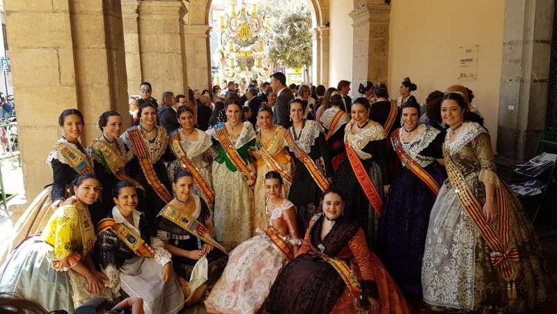 Las reinas de la provincia en el ayuntamiento