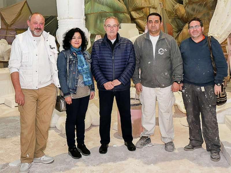 Miembros del Gremio Artesano de Artistas Falleros FOTO J. FÉLIX GIMENO