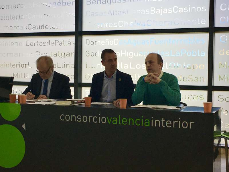 Asamblea General del Consorcio Valencia Interior, con su presidente, Robert Raga, en el centro. / EPDA