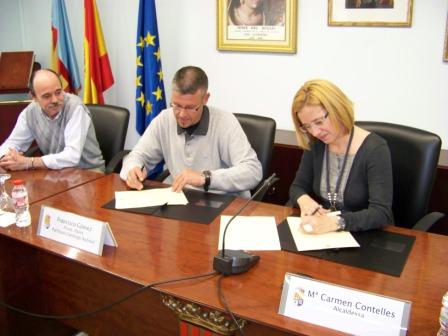 Firma del convenio. FOTO: EPDA