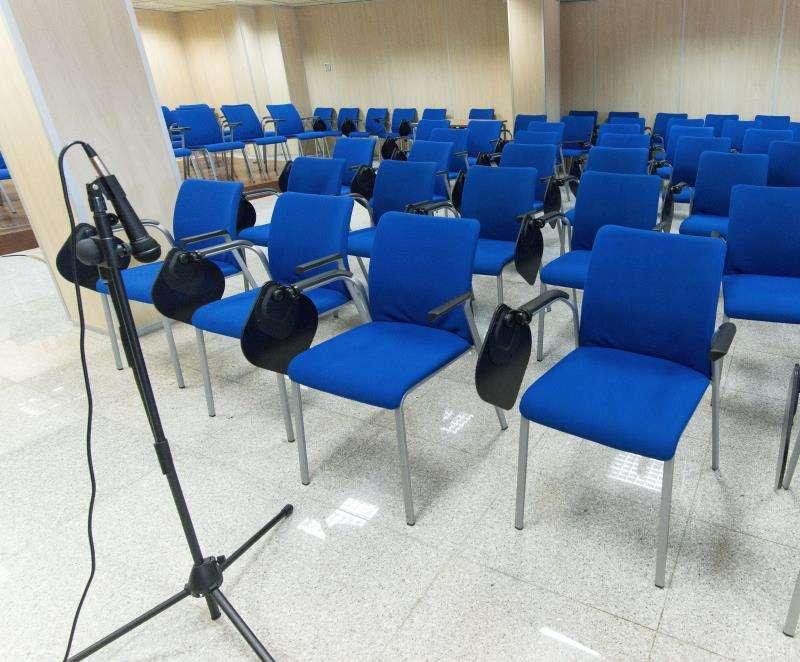 Interior de una sala de juicios. EFE/Archivo