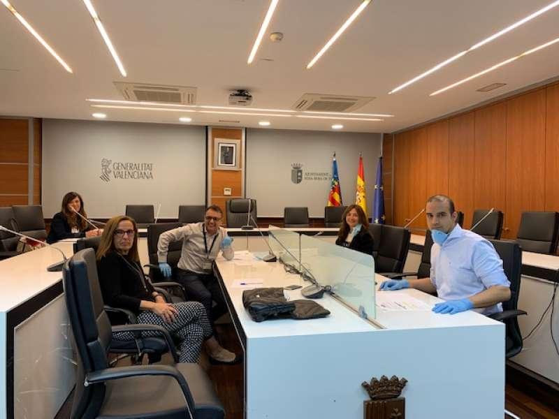 Miembros de Ciudadanos de Ribarroja. / EPDA
