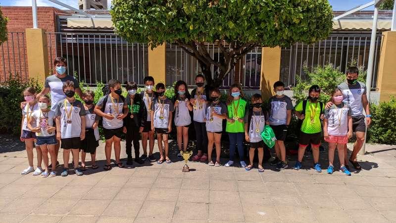 Integrantes del CN SOS Bétera en el autonómico celebrado en Catarroja.
