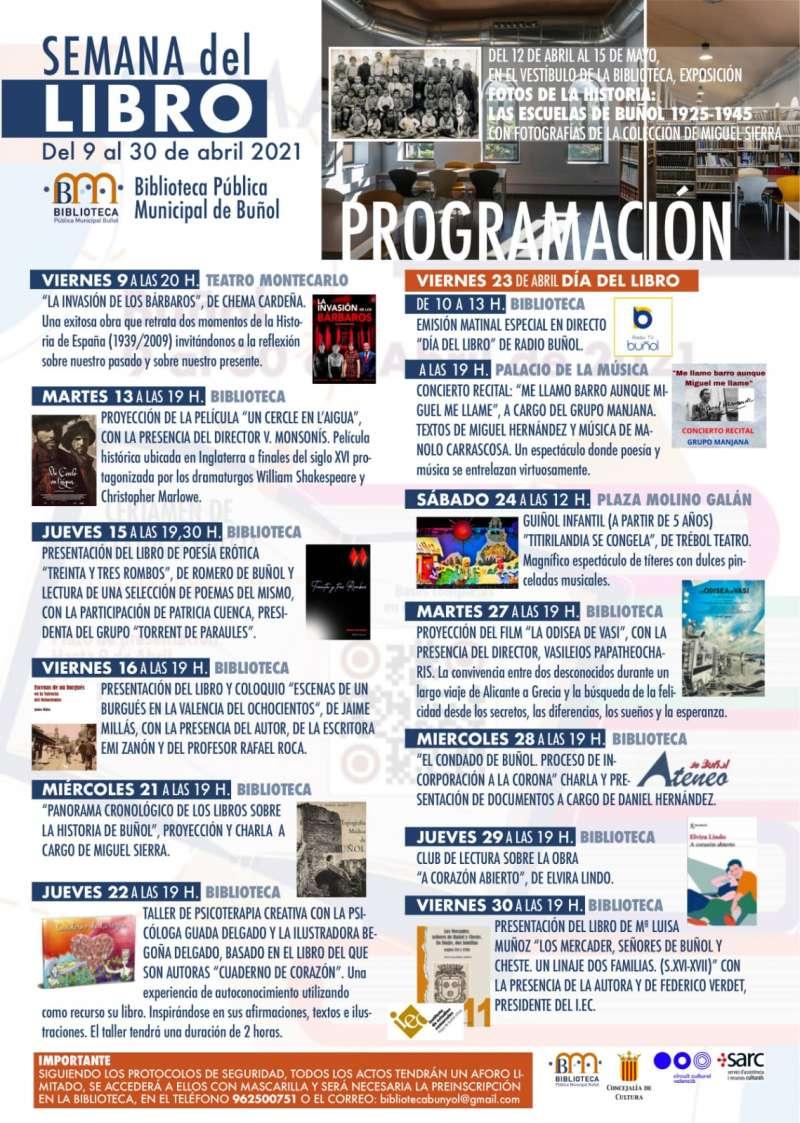 Cartel Semana Libro 2021. EPDA