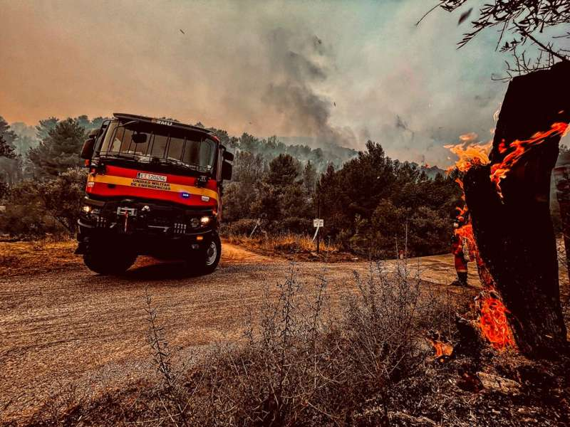 Fuego en Azuebar. EPDA