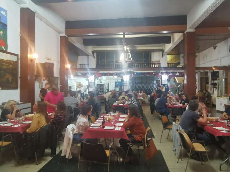 Cena durante la gala