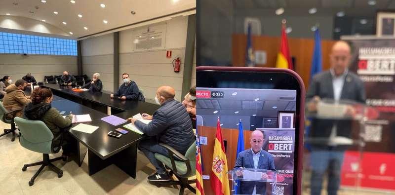 Paco Gómez en la comparecencia.