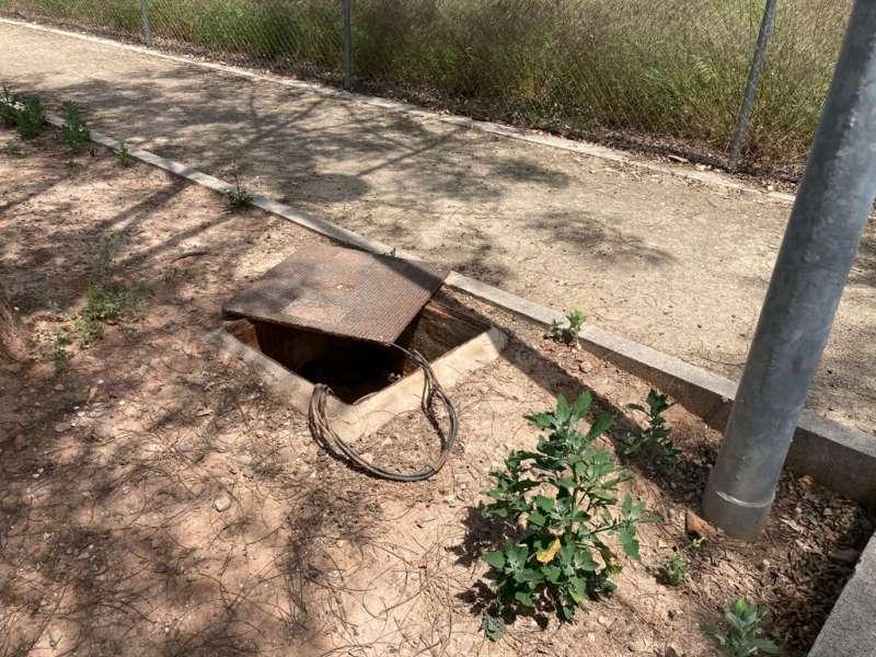 Intento de robo de cobre en una trapa de Canet. / EPDA