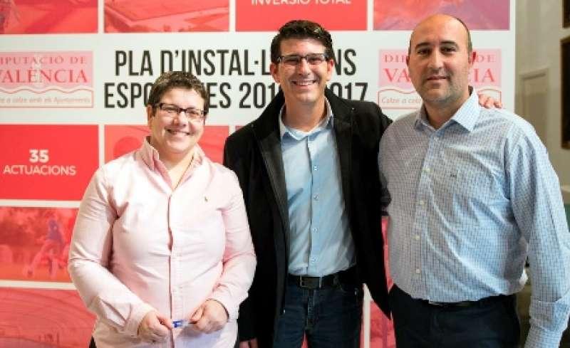 García, Rodríguez y Gómez en la presentación del plan. EPDA