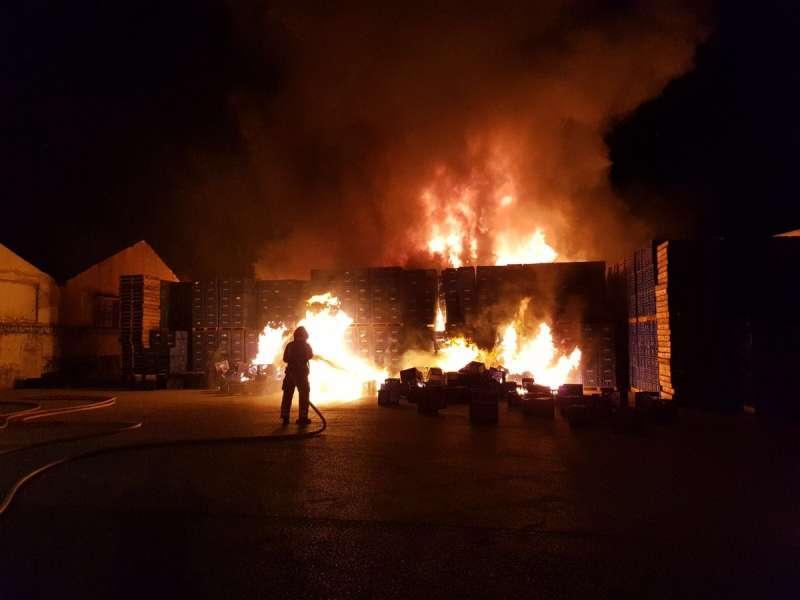 Incendio de la cooperativa agrícola de Alginet. EPDA