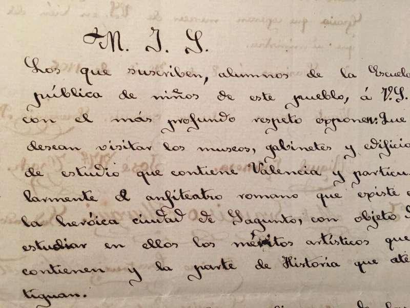 Escrito de los alumnos al Ayuntamiento de Casinos el 8 de abril de 1806. / JSM