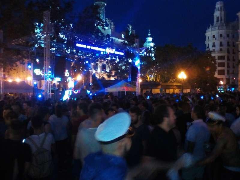 Plaza del Ayuntamiento de Valencia. FIESTÓN.