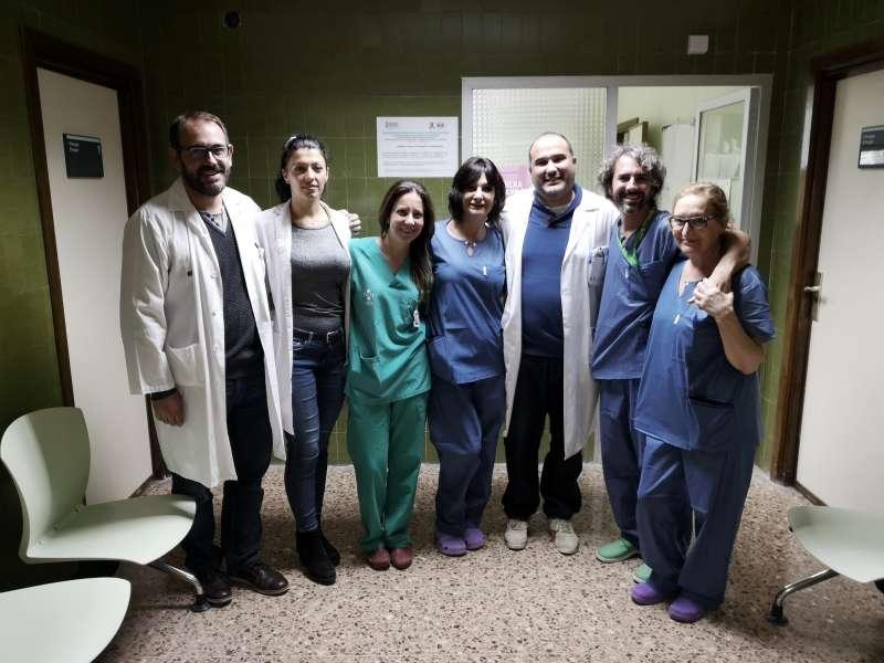 Equipo médico del Hospital de Sagunt. EPDA