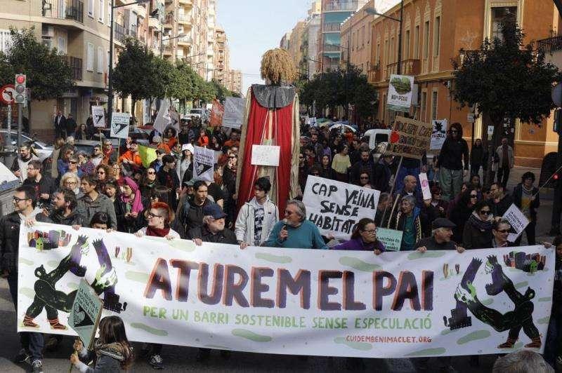 Protestas contra el PAI de Benimaclet. FOTO ARCHIVO