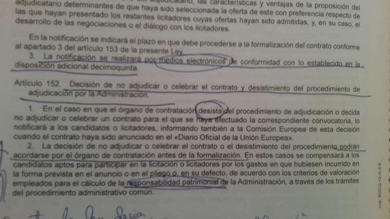 Artículo citado por Manolo Civera de la Ley de Contratos. / epda