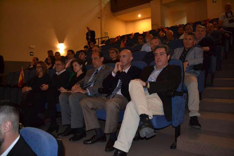 José María Llanos en el acto de presentación de los equipos locales. EPDA