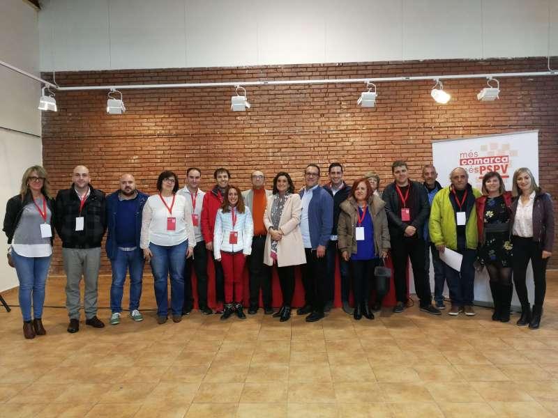 Nueva dirección comarcal del PSPV del Camp de Morvedre. FOTO EPDA