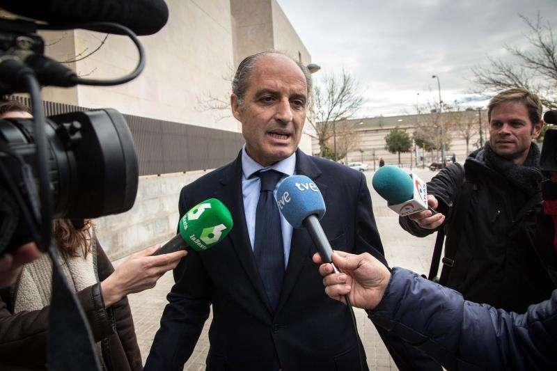 El expresidente de la Generalitat, Francisco Camps, a su llegada a la Ciudad de la Justicia en una imagen de archivo. EFE/Archivo