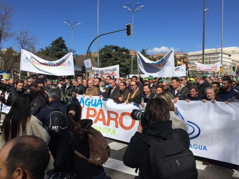 Un momento de la manifestación en Madrid.