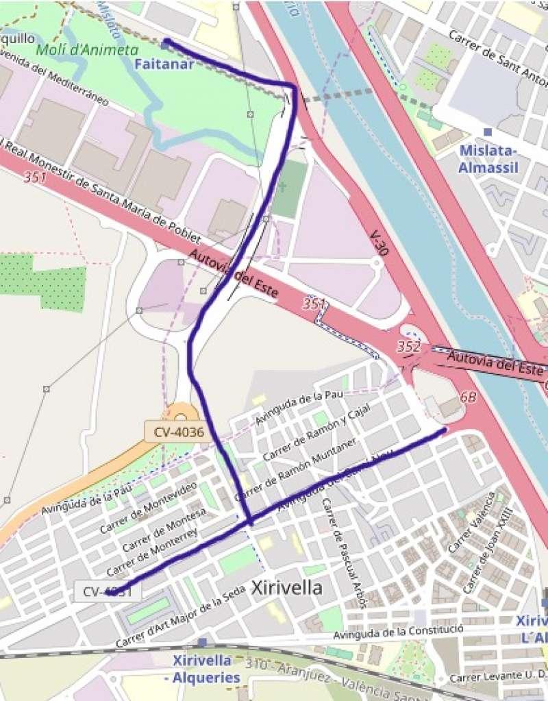Mapa del trayecto