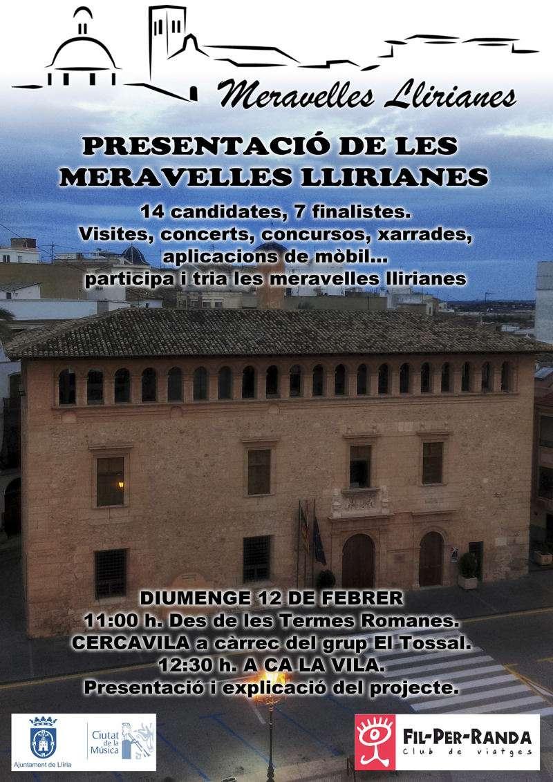 Cartel del concurso Meravelles Llirianes. EPDA