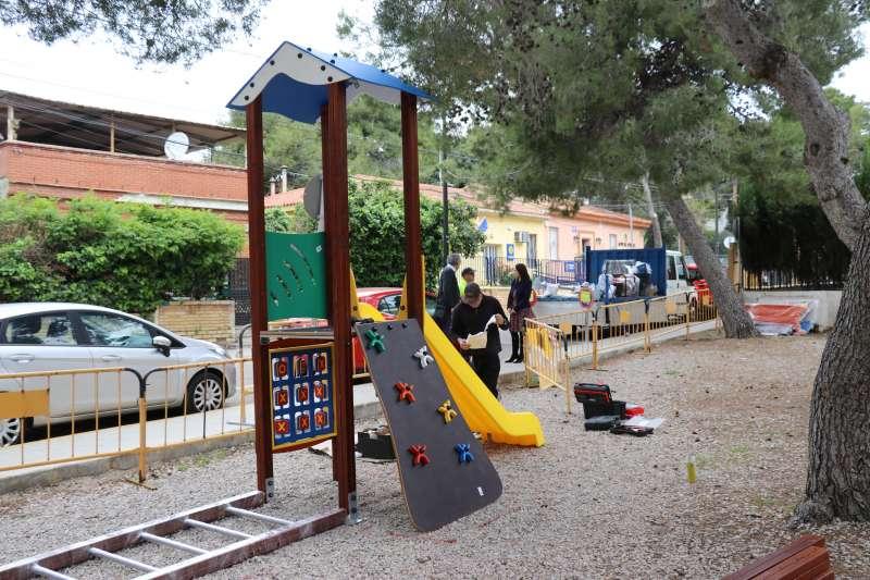 Tobogán en el parque El Vedat.