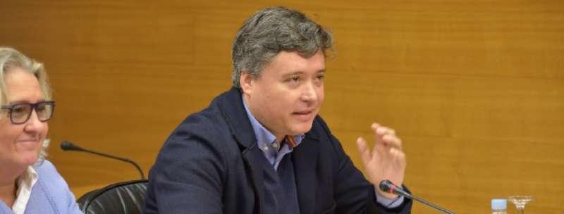 El secretario general del grupo popular en les Corts, Luis Santamaría