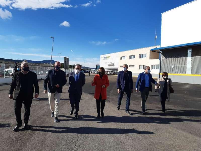Visita del presidente de diputación de Castellón  a Benihort