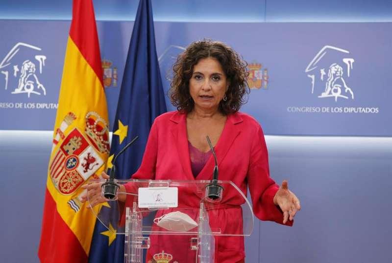 La ministra de Hacienda y portavoz del Gobierno, María Jesús Montero. EFE