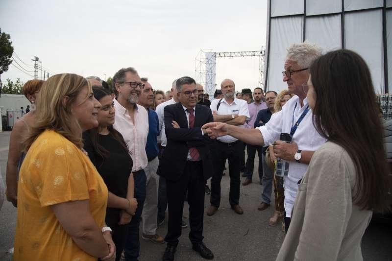 Visita de José Martí a las instalaciones del FIB. EPDA