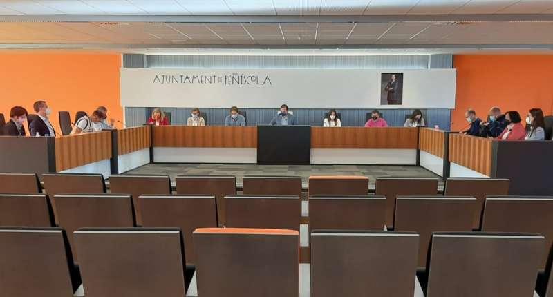 Pleno celebrado en el Ayuntamiento de Peñíscola.
