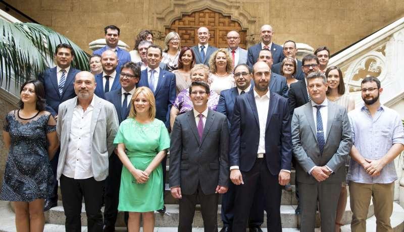 Contelles i Rodríguez en la toma de posesión de la Diputación.