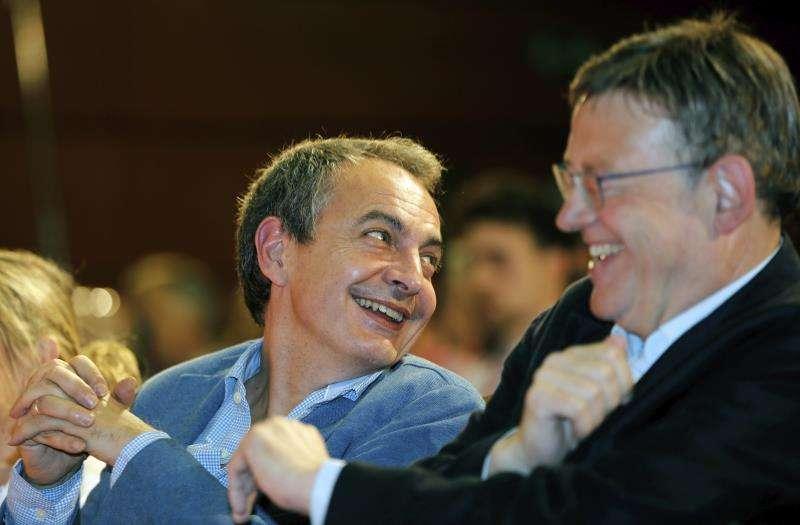 El expresidente del Gobierno Rodríguez Zapatero con el president de la Generalitat, Ximo Puig,EFE/Archivo