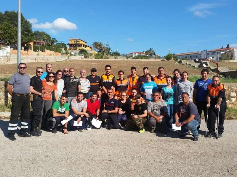 Els voluntaris que han fet el curs a Alzira. EPDA
