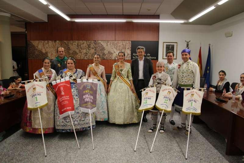 Lliurament de premis a La Pobla de Vallbona.