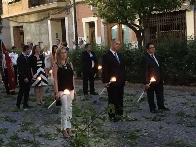 María Jesús Martínez, en una procesión. EPDA