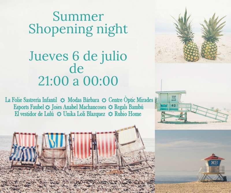 Cartel de la Summer Shopening Nigth de Silla. EPDA