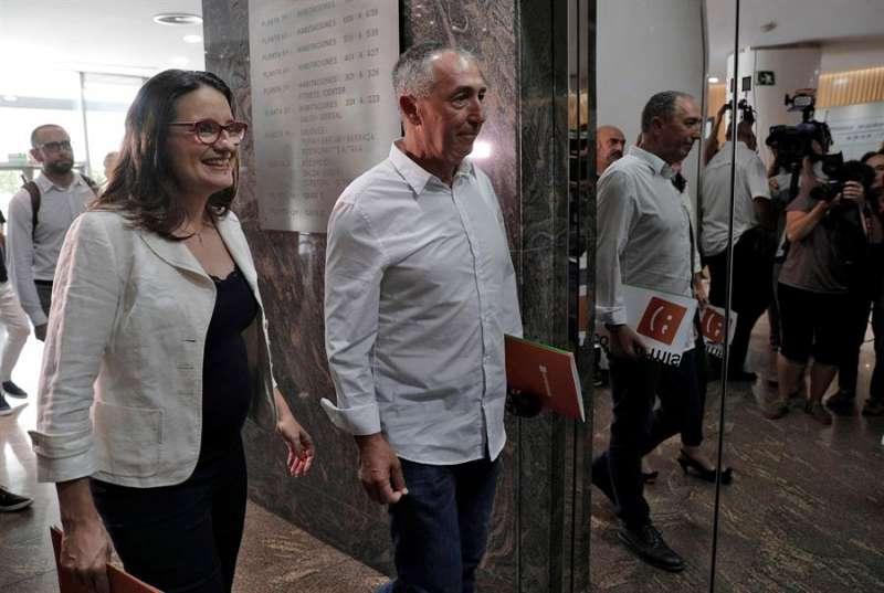 La coportavoz de Compromís y vicepresidenta del Consell, Mónica Oltra, y el diputado de Compromís en el Congreso, Joan Baldoví (d). EFE/Bruque/Archivo