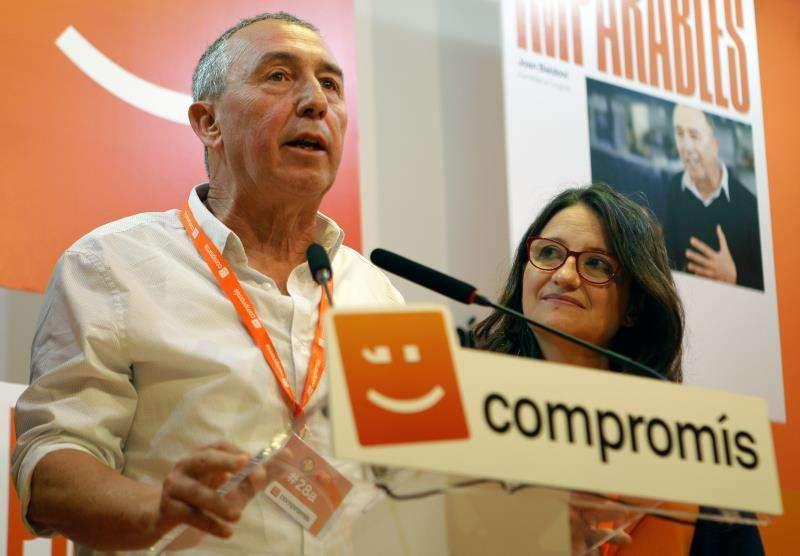El diputado de Compromís en el Congreso, Joan Baldoví, y la vicepresidenta de la Generalitat, Mónica Oltra. EFE/Archivo