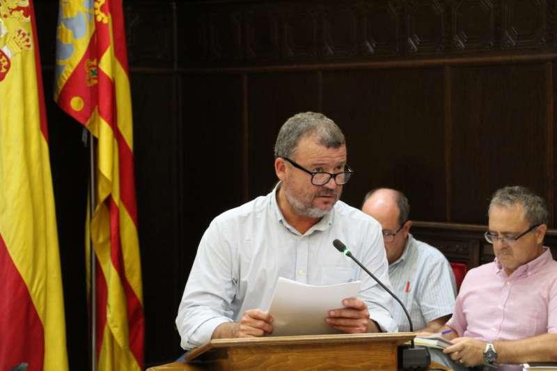 El alcalde de Sagunt en un pleno. EPDA