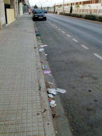 Las fotografías tomadas este martes dan testimonio de la falta de limpieza de las calles. Foto: EPDA.