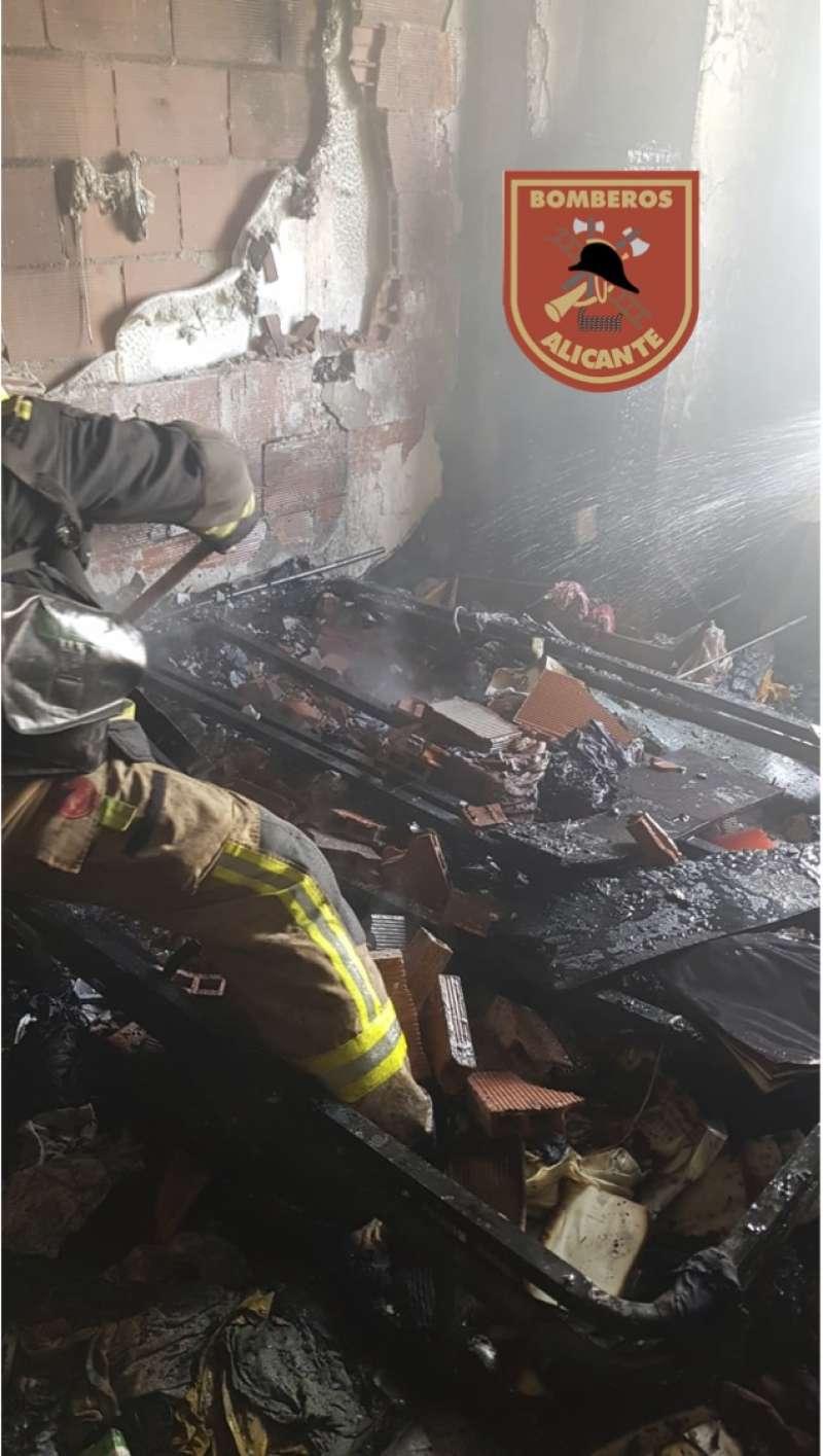 Imagen del incendio