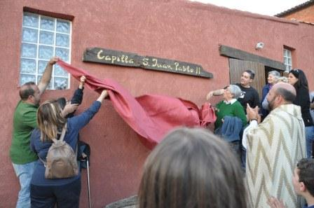 Bendición de la primera Capilla dedicada a San Juan Pablo II en Siete Aguas.