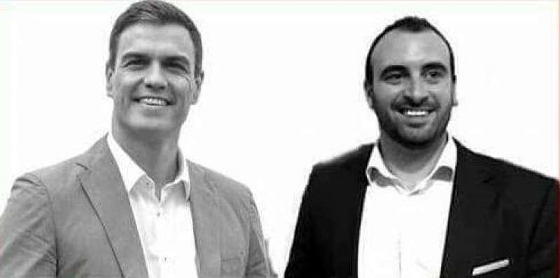 Pedro Sánchez y Rubén Fenollar. FOTO EPDA