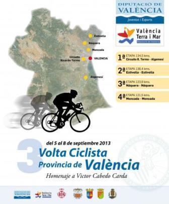 Cartel de la Volta Ciclista de la Provincia de Valencia. Foto: EPDA