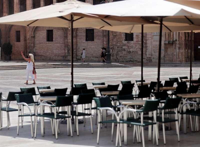 Una terraza de València. EFE/Kai Försterling