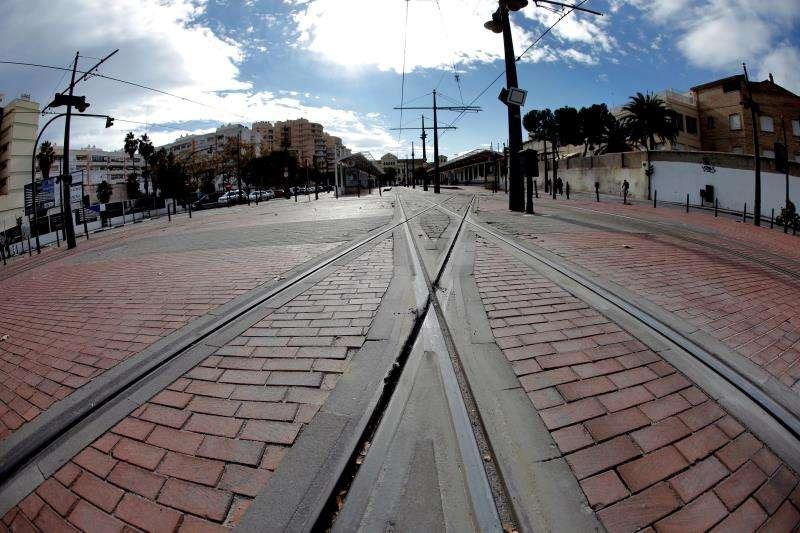 En la foto, vías del tranvía en la estación de Madera.EFE/Archivo
