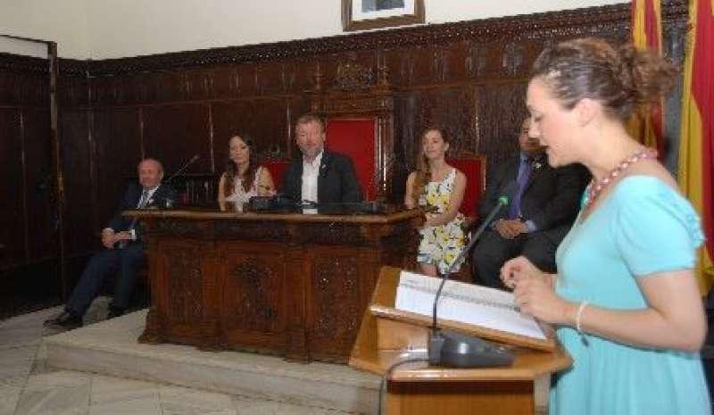 Acto de elección de las Falleras Mayores del último ejercicio. EPDA