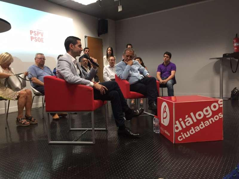 Carlos Fernández Bielsa y Miguel Soler en el encuentro. EPDA