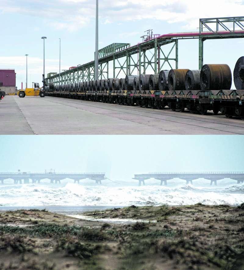 Imágenes del puerto de Sagunt y el Pantalán en la actualidad. APV/KIVI OSMA
